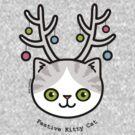 Festive Kitty Cat by Zoe Lathey