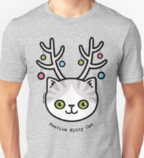 Festliche Kitty Katze Slim Fit T-Shirt