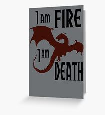 Fire & Death Greeting Card