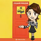 TWICE Chaeyoung Knock Knock by Moreno Artwork