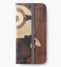 Cute minion of wood iPhone Wallet/Case/Skin