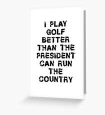 Funny Golfing T Shirt Greeting Card