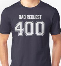 Error 400 - Bad Request - White Letters T-Shirt
