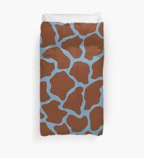 Air Superiority Blue in Giraffe Pattern Duvet Cover