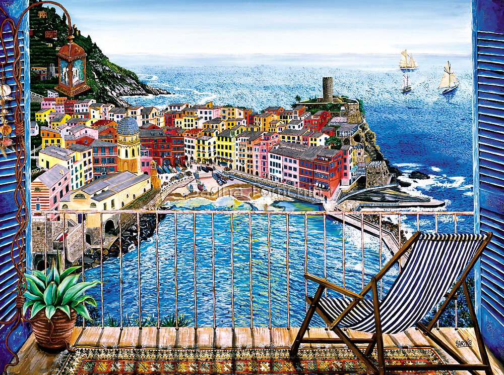 Vernazza - Italy by Sarina Tomchin