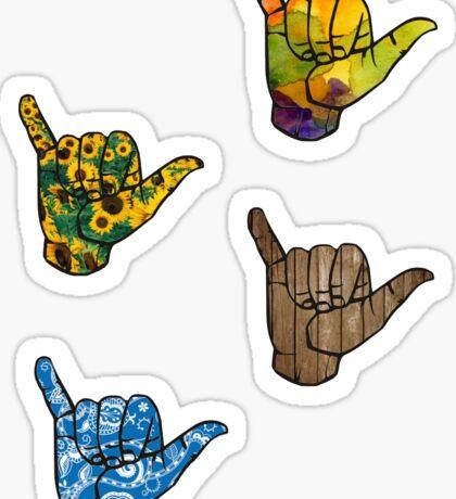 Shaka Hand Sticker Set Sticker