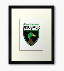 Honest-To-Goodness Dinosaur: Duck (on light background) Framed Print