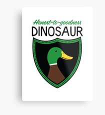 Honest-To-Goodness Dinosaur: Duck (on light background) Metal Print