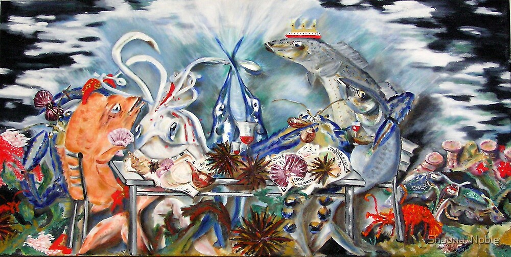 SEAFOOD PLATTER oil on canvas by Shauna  Noble