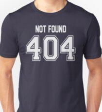 Error 404 - Not Found - White Letters Unisex T-Shirt