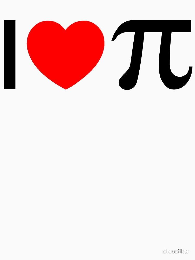 I Heart Pi - I Love Pi by chaosfilter