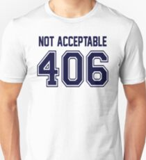 Error 406 - Not Acceptable - Navy Letters Unisex T-Shirt
