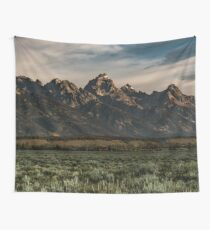 Travel Mountain Nature Trees Tapestry - Grand Tetons - Jackson Hole Wyoming Wall Tapestry