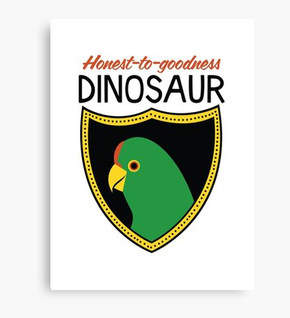 Honest-To-Goodness Dinosaur: Parakeet (on light background) Canvas Print