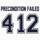 Error 412 - Precondition Failed - Navy Letters by JRon