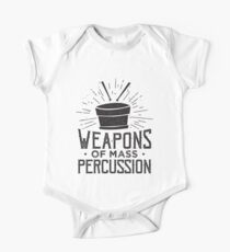 Weapons of Mass Percussion - Drummer Drums Musician Kids Clothes