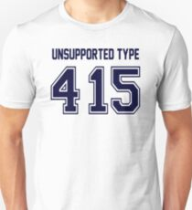 Error 415 - Unsupported Type - Navy Letters Unisex T-Shirt