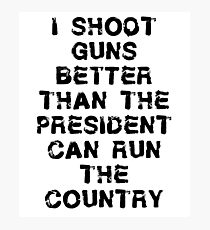 Funny Gun T Shirt Photographic Print