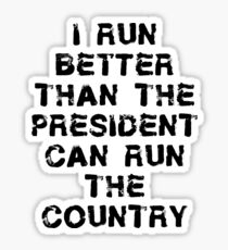 Funning Running T Shirt Sticker