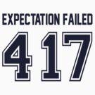 Error 417 - Expectation Failed - Navy Letters by JRon