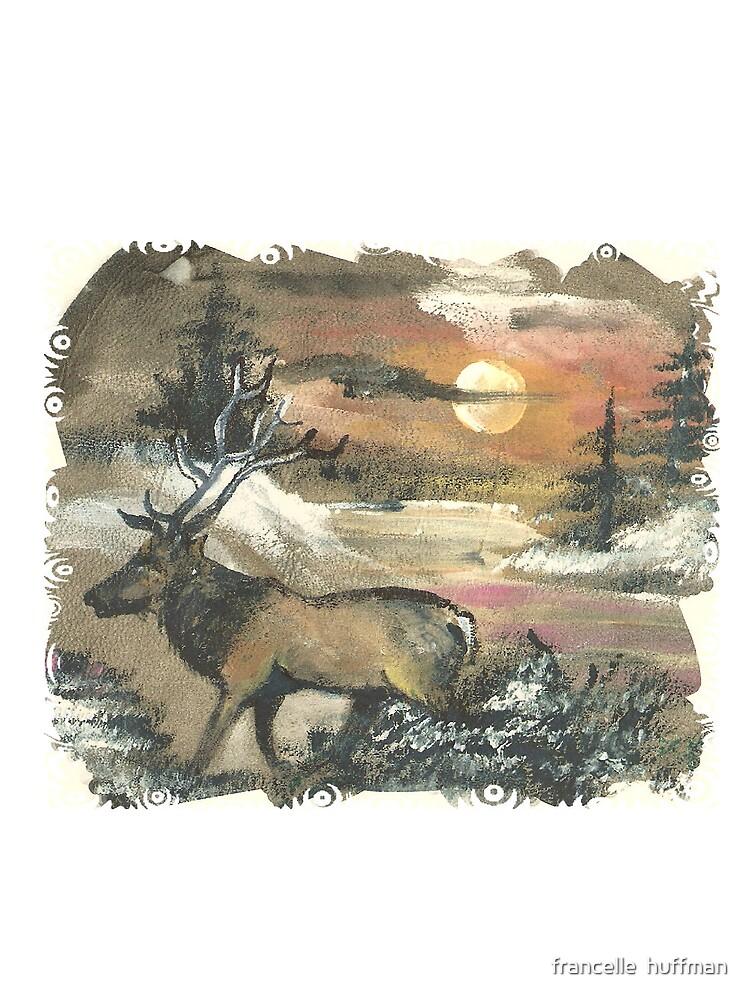 Elk  in sunset by franniesbest