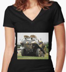 Alvis Stalwart Mk.2 Women's Fitted V-Neck T-Shirt
