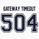 Error 504 - Gateway Timeout - Navy Letters by JRon