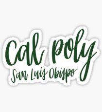 Cal Poly SLO Green Sticker