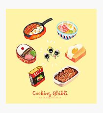 Cooking Ghibli  Photographic Print