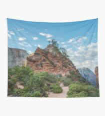 Travel Trees Mountains Angels Rest Zion National Park - Utah USA Wall Tapestry
