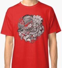 hand drawn fine line black and red fantasy   Classic T-Shirt