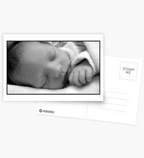 New Born Sleeping  Postcards