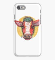 Carrot top cow iPhone Case/Skin