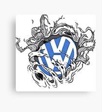 VW Bullet Holes Logo Canvas Print