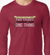 Ron Swanson Parks and Recreation Quote Long Sleeve T-Shirt