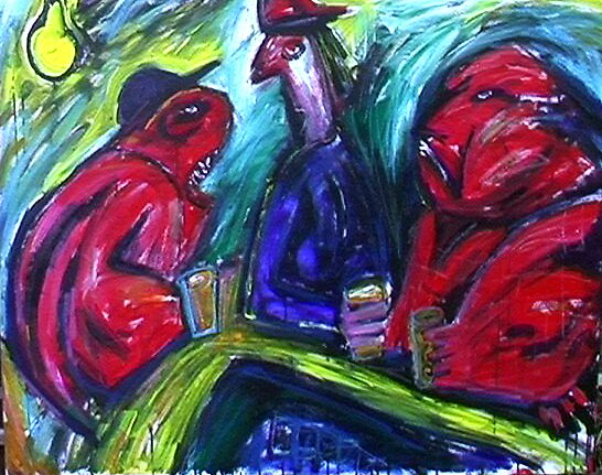 3 Drinkers by Adrian Symes