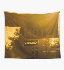 sunrise travel  Faboulous Motel vacancy on Old Route 66 - RT66 vintage Wall Tapestry