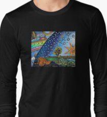 Flammarion Woodcut Flat Earth Design T-Shirt