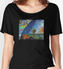 Flammarion Woodcut Flat Earth Design Women's Relaxed Fit T-Shirt