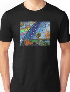 Flammarion Woodcut Flat Earth Design Unisex T-Shirt