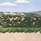 Red Barn in Alexander Valley by Cyndi Gonzalez