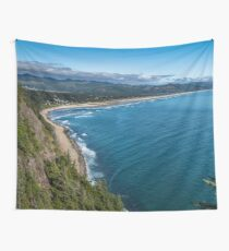 Travel Ocean Beach Water Landscape Blue Waves Oregon Pacific Highway 101 - Cascadia Wall Tapestry