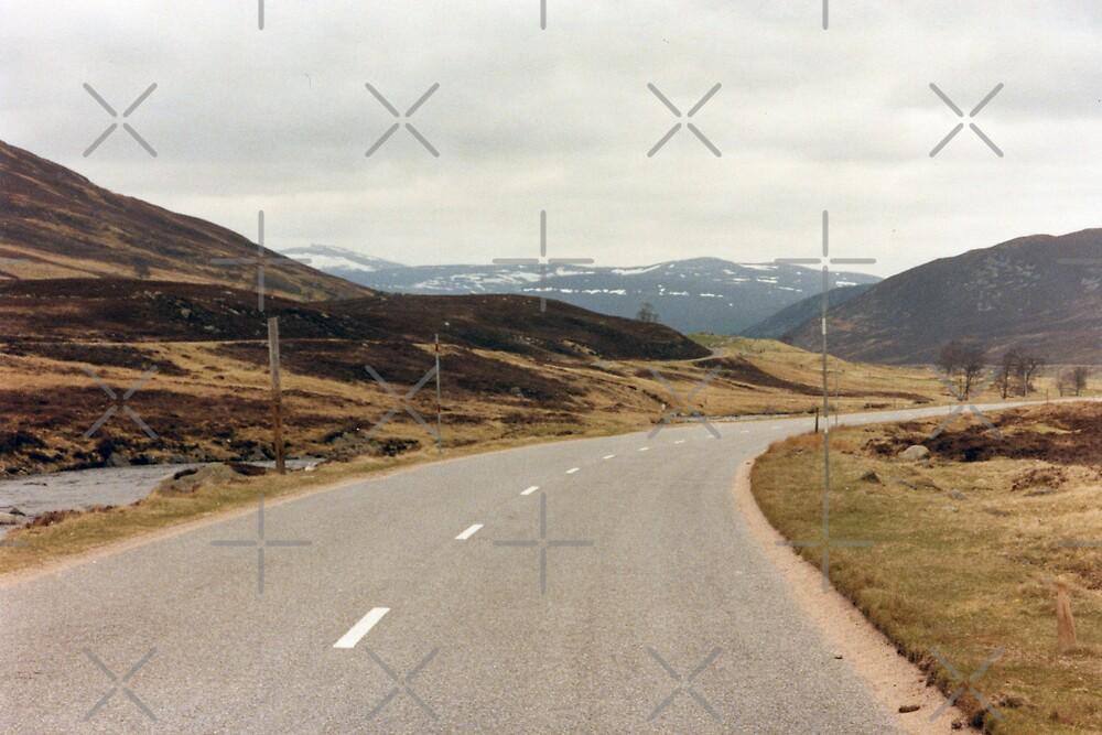 Scotland Snow Fields by georgiegirl