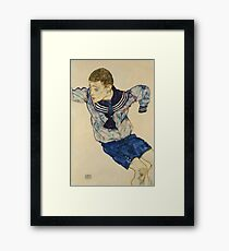 Egon Schiele - Boy In A Sailor Suit 1913 Framed Print