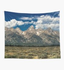 Mountain Trees Nature Travel Landscape Photography Wall Tapestry The Grand Tetons Wall Tapestry