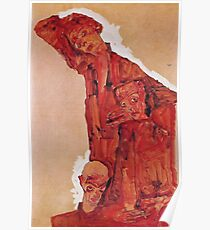 Egon Schiele - Composition With Three Male Figures Self Portrait 1911 Poster