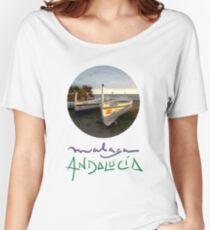 Jabega de Malaga · Fisherman´s Boat · Andalusien Camiseta ancha para mujer