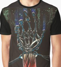 Android Skeletal Hand Graphic T-Shirt