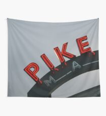 Pike Place Market - Seattle, Washington, USA Travel Fog Wall Tapestry
