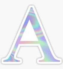 Alpha A Holographic Greek Sorority Sticker
